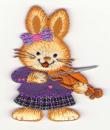 Zajíček s houslemi 5x7cm