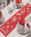 Křížková výšivka vánoční 30x105cm