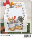 Křížková výšivka Kohout s kuřaty 32x84cm