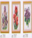 Květiny na vyšití 11x11cm