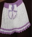 Fialovo- bílá sukýnka