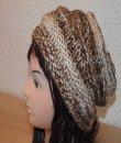 Pletená čepice se vzorem